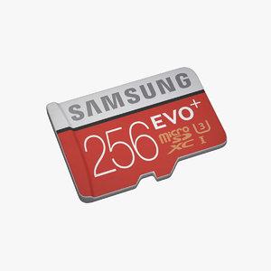 micro sd card 3D model
