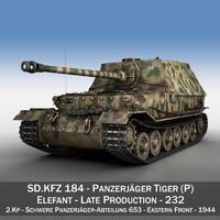 tiger p - elefant 3D