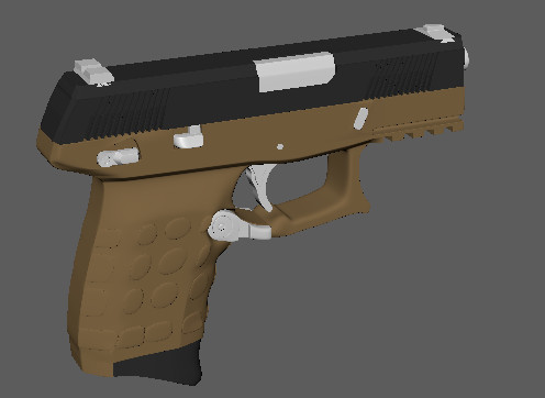 3D pistol tactical