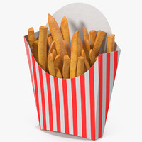 french fries 6 3D model