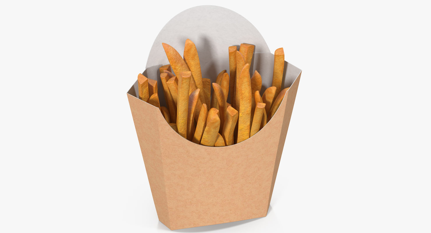 french fries 7 3D model