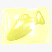 wrapped yellow fish 3D model
