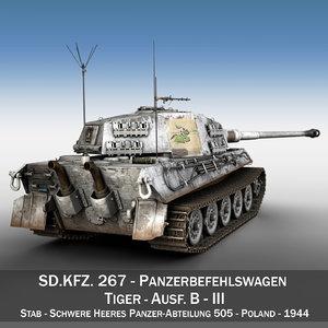 3D model panzerbefehlswagen tiger - ausf