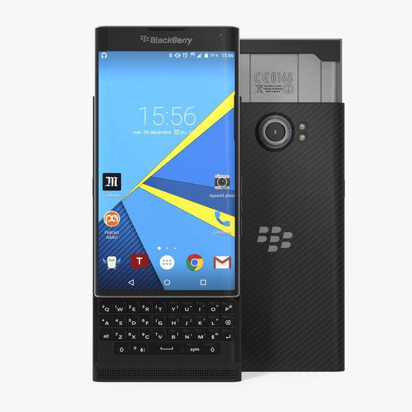 blackberry priv 3D model