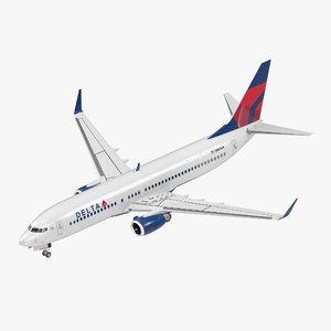 3D boeing 737-800 delta air lines