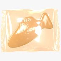 wrapped orange fish 3D