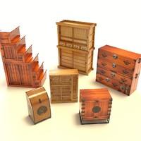 Bruno Echise - 6 Japanese Furniture Pack