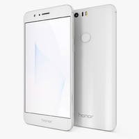 huawei honor 8 white 3D