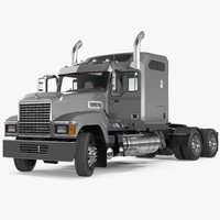 3D mack chu613 truck rigged model