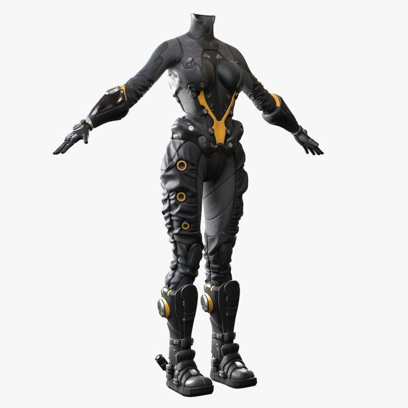 3D suit female