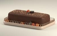 cake berries chocolate 3D