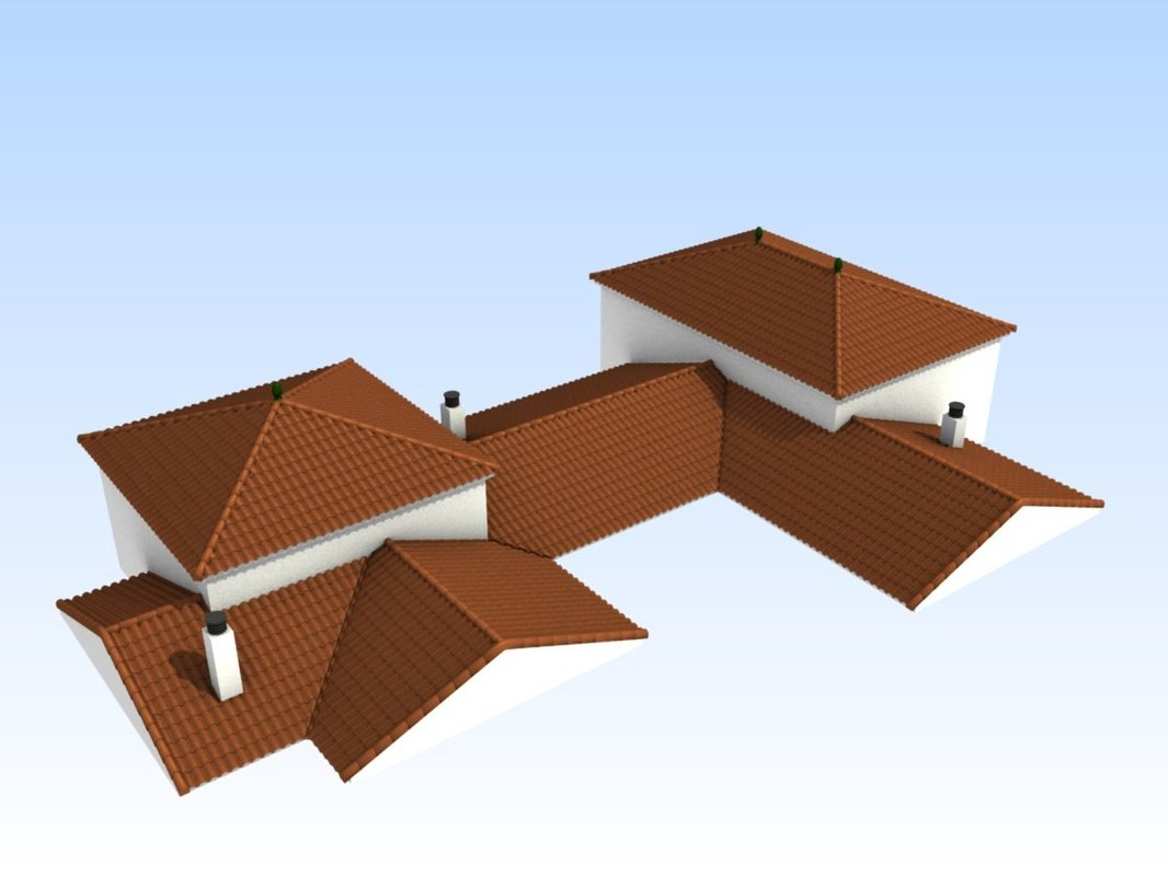 3D model build roofs
