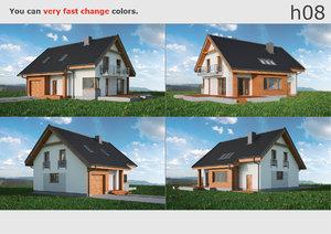 3D house 08 model