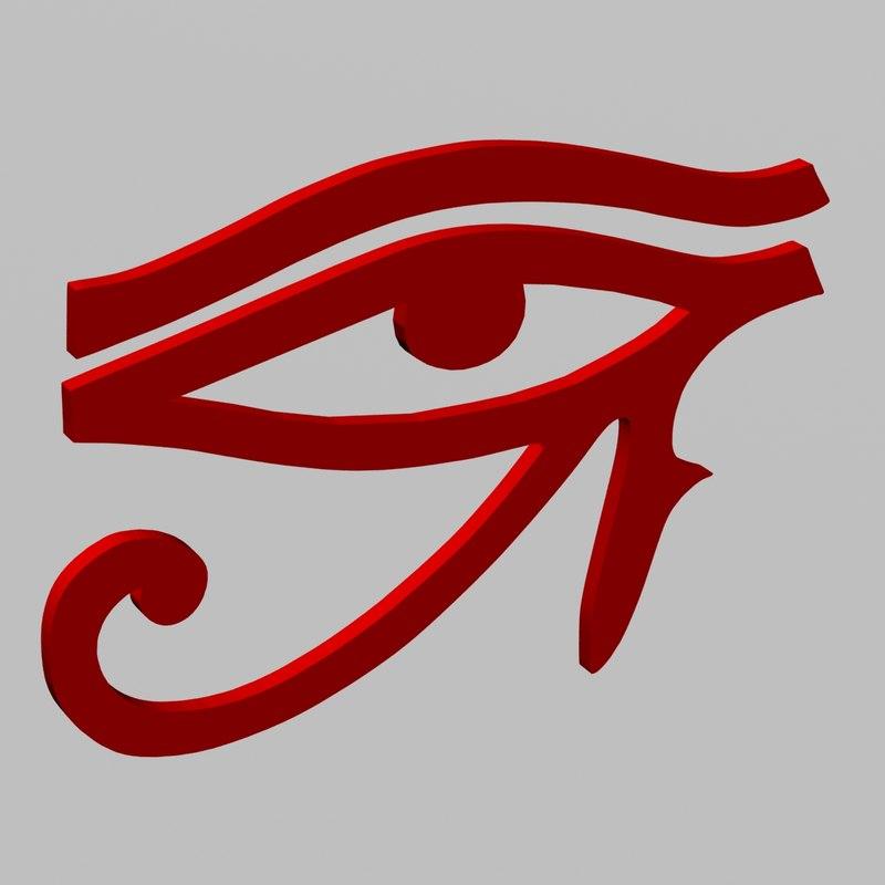 egyptian eye ra horus 3D