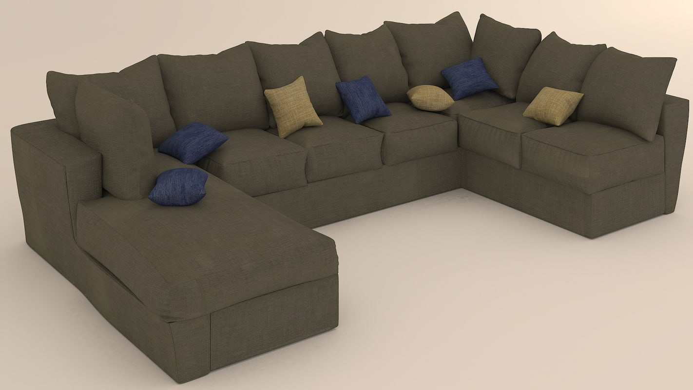 3D wool sofa model