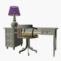 3D ebanisteria bacci table lamp model