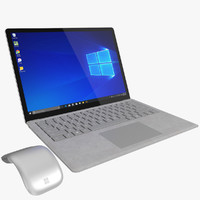 Microsoft Surface Laptop Platinum (Rigged)