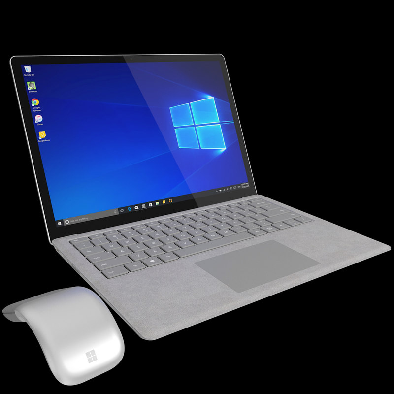 realistic microsoft surface laptop model