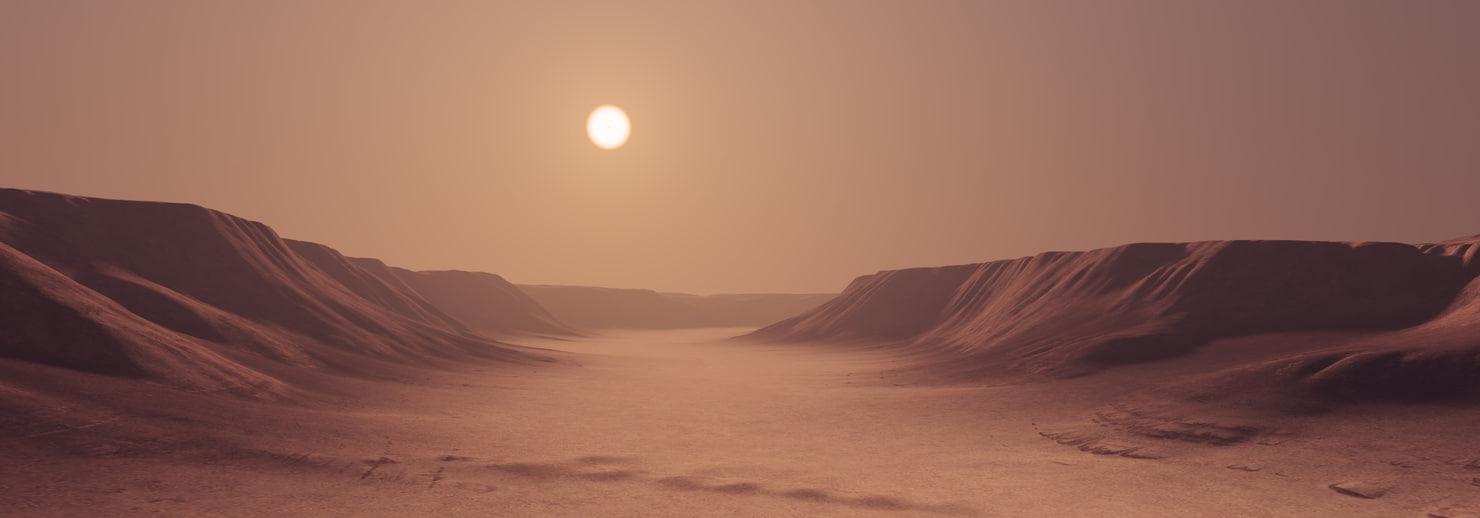 3D terrain canyon model