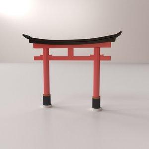 torii 3D model