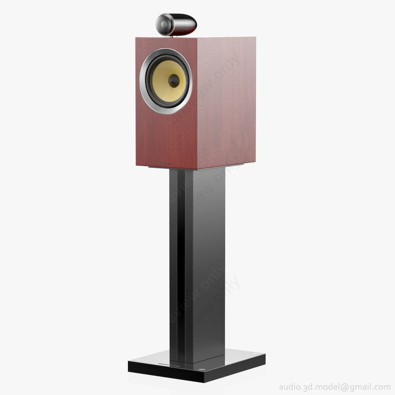 3D bookshelf stand bowers wilkins model
