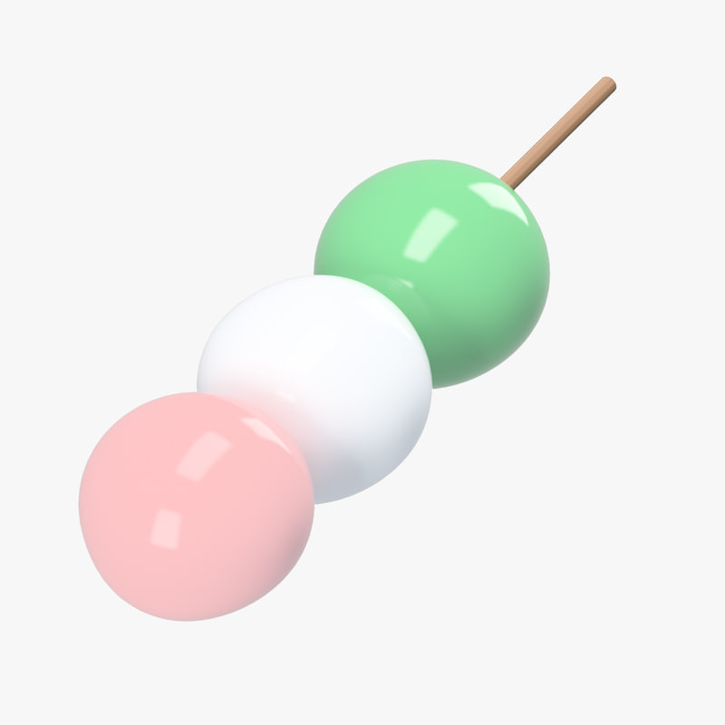 skewer hanami dango 3D