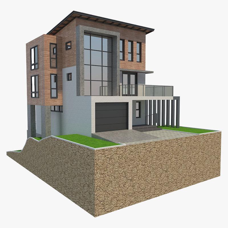 3D house rest model