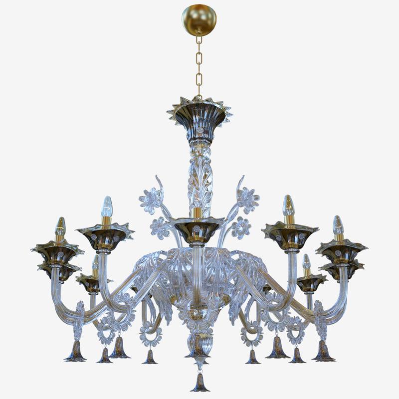 chandeliers lights sylcom giustinian 3D model