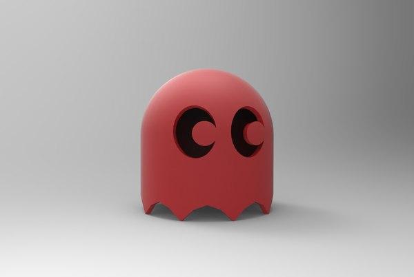 3D pacman ghost