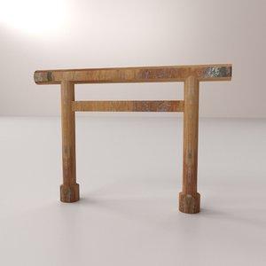 3D shinmei torii model