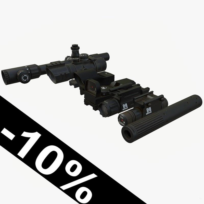 sight laser silencer 3D model