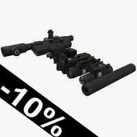 sight laser silencer 3D model