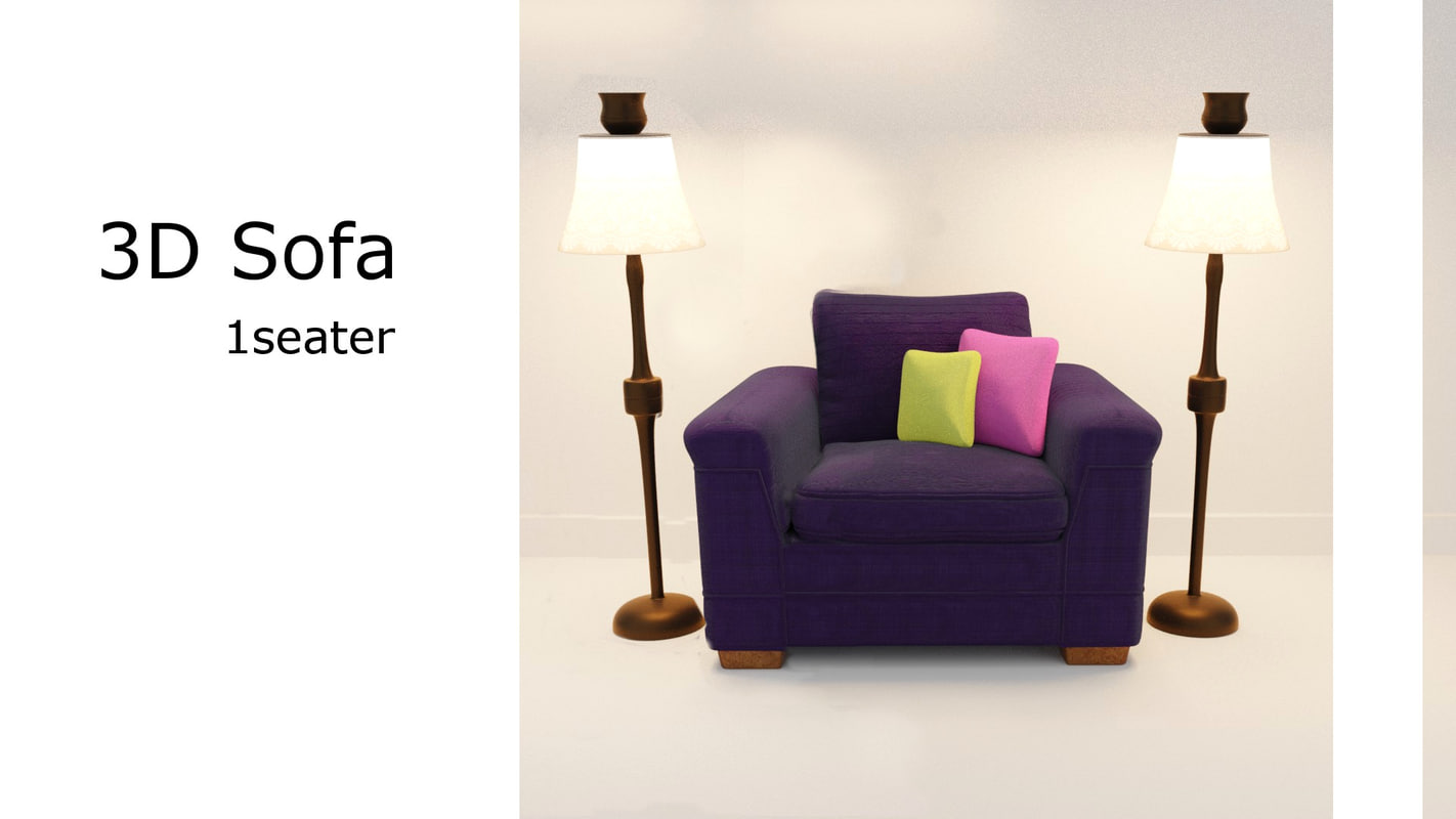 1 seater sofa 3D