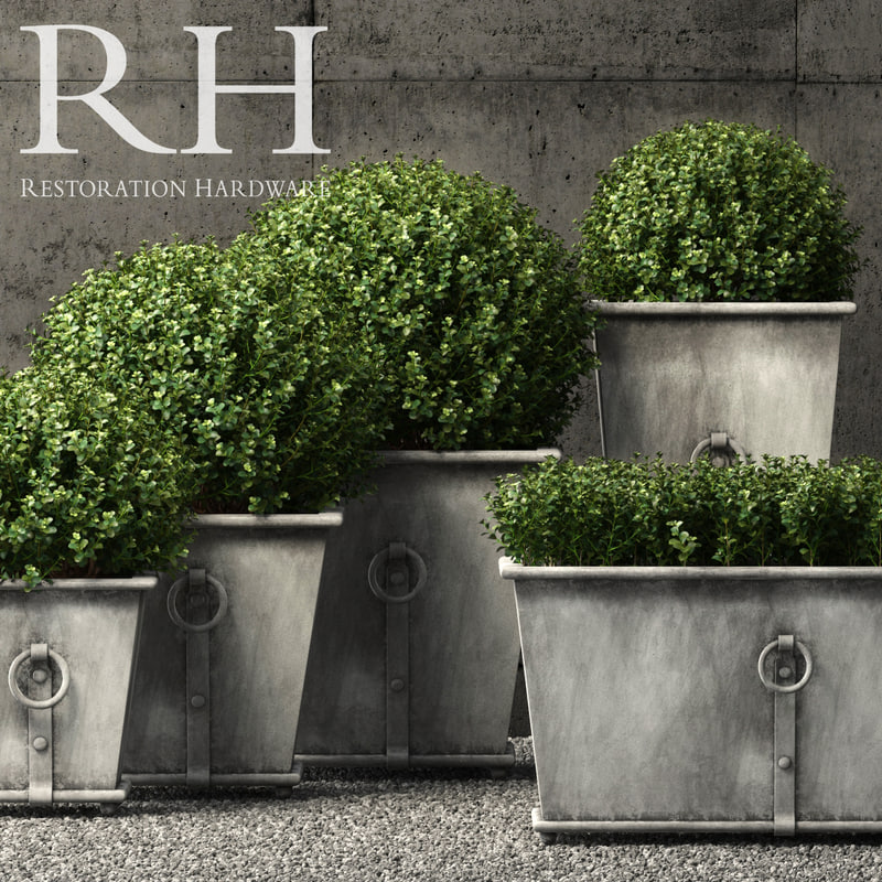 3D restoration hardware planters model