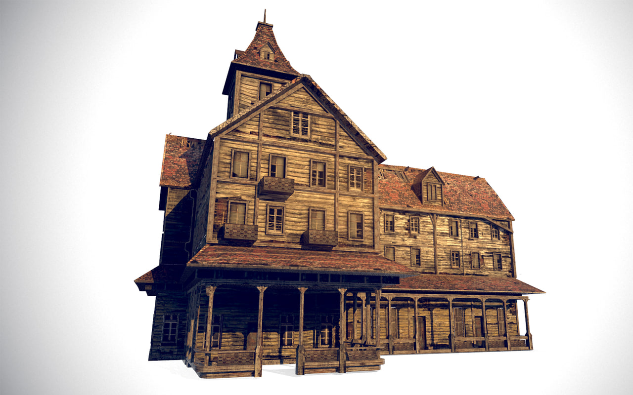 abandoned building games 3D model