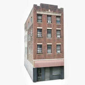 3D ready city apartment building