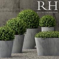 restoration hardware planters 3D model