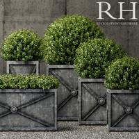 restoration hardware planters 3D