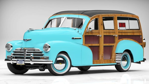 chevrolet woodie wagon 3D model