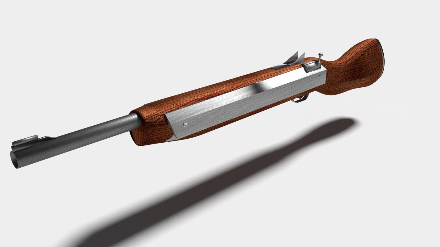 3D simple rifle model