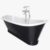 vintage bathtub madeira black 3D model