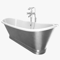 3D model vintage bathtub madeira chrome