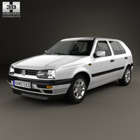 3D volkswagen golf 1993