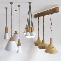 Wooden lamps set 2