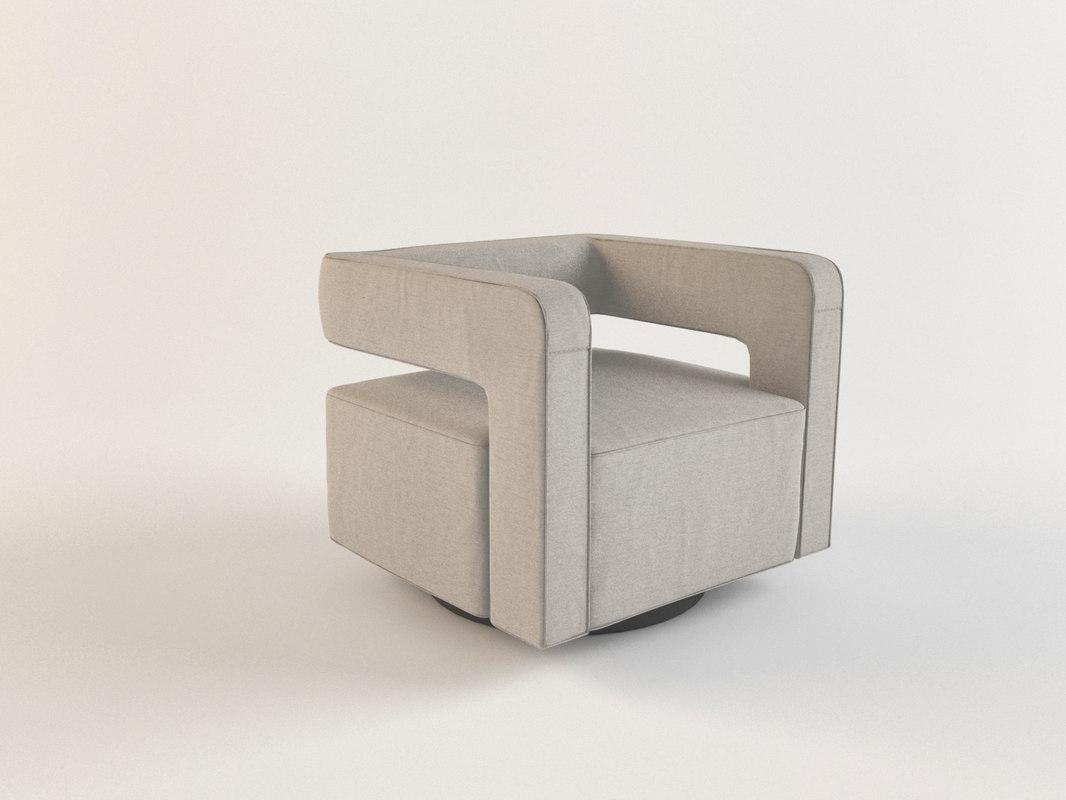 nico swivel chair 3D model