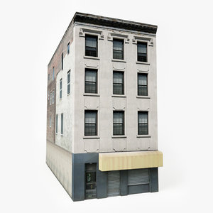 ready city apartment building 3D model