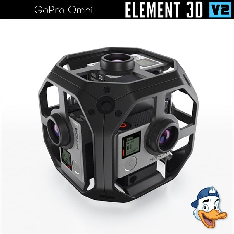 3D gopro omni element