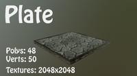 3D flagstone stone model