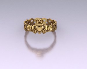claddagh ring 3D model