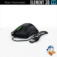 3D razer deathadder element